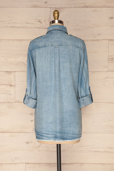 Kingston Light Blue Long Sleeved Denim Shirt | La Petite Garçonne 7