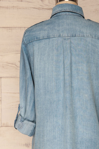 Kingston Light Blue Long Sleeved Denim Shirt | La Petite Garçonne 8