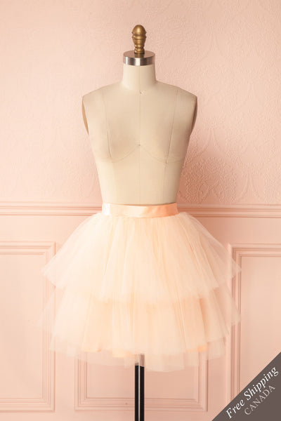 Kishy Peach Short Layered Tulle Skirt | Boutique 1861 1