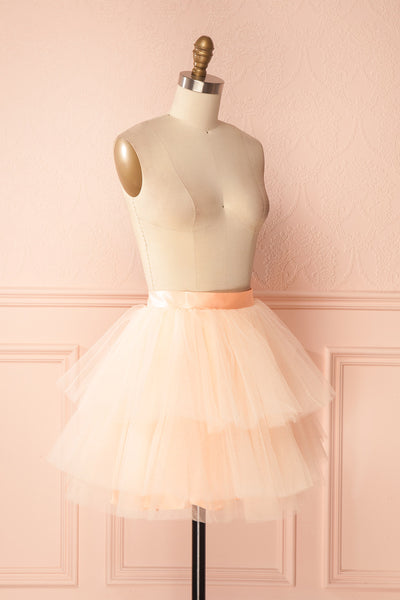 Kishy Peach Short Layered Tulle Skirt | Boutique 1861 3
