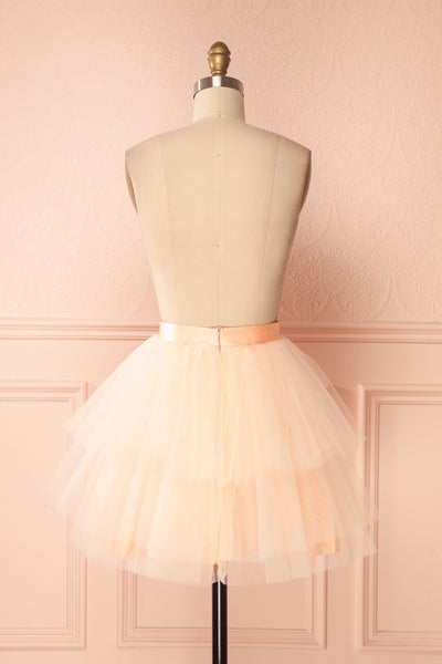 Kishy Peach Short Layered Tulle Skirt | Boutique 1861 5