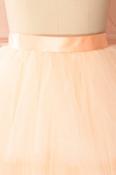 Kishy Peach Short Layered Tulle Skirt | Boutique 1861 2