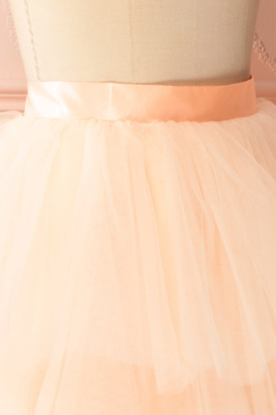 Kishy Peach Short Layered Tulle Skirt | Boutique 1861 4