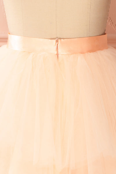 Kishy Peach Short Layered Tulle Skirt | Boutique 1861 6