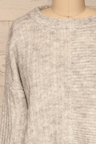 Kitee Mushroom Knit Sweater | Chandail | La Petite Garçonne front close-up