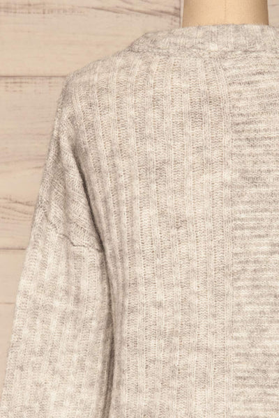 Kitee Mushroom Knit Sweater | Chandail | La Petite Garçonne back close-up