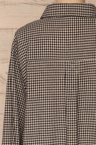 Knurow Black & White Shirt | Chemise back close up | La Petite Garçonne