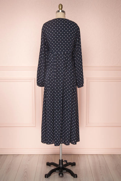 Koko Navy | Patterned Dress