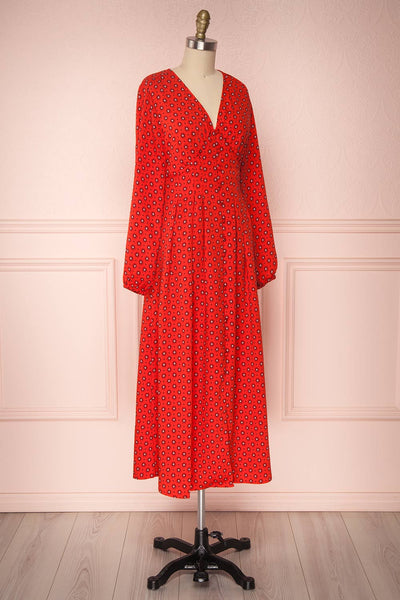 Koko Red | Robe Rouge à Motif
