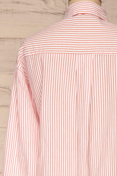 Kouvola Rouge Striped Shirt | Chemisier | La Petite Garçonne back close-up