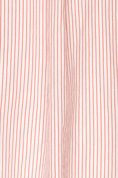 Kouvola Rouge Striped Shirt | Chemisier | La Petite Garçonne fabric detail
