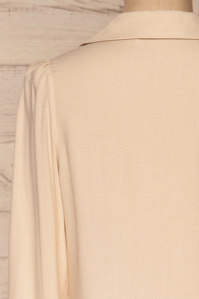 Kovin Cream Long Sleeve Blouse | La petite garçonne back close-up