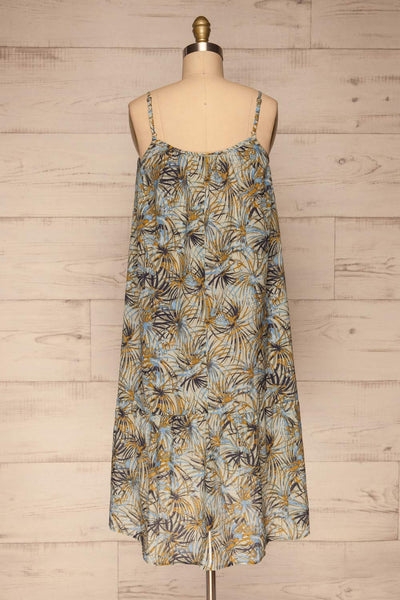 Kozuchow Sage Green Patterned Summer Dress back view | Boutique 1861