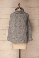 Kraai Blizzard Light Grey Loose Knit Sweater | La Petite Garçonne