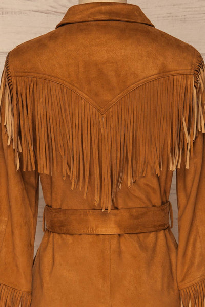 Kragero Belted Fringe Jacket | La petite garçonne back close-up