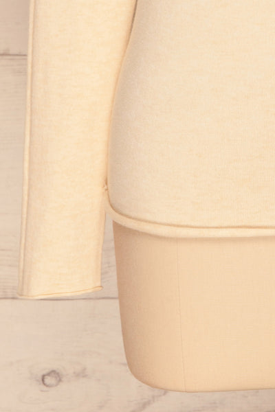 Kuznia Cream Long Sleeve Mock Neck Top | La petite garçonne sleeve