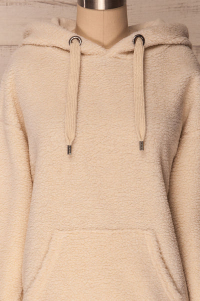 Labin Ivory Wooly Fleece Sweater with Hood | La Petite Garçonne 3