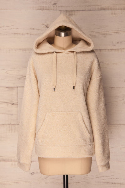 Labin Ivory Wooly Fleece Sweater with Hood | La Petite Garçonne 4