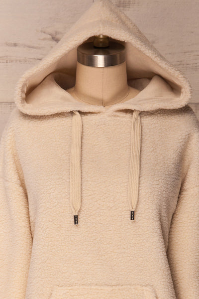Labin Ivory Wooly Fleece Sweater with Hood | La Petite Garçonne 2