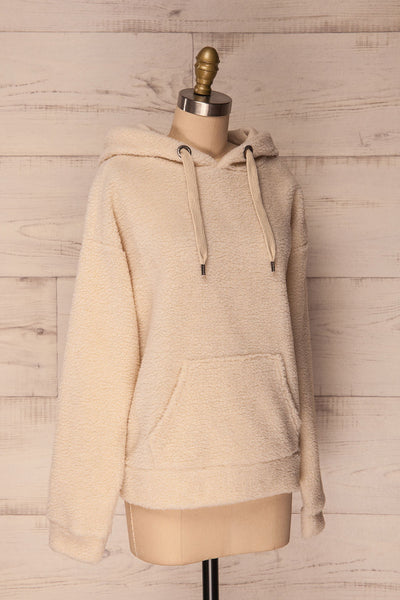 Labin Ivory Wooly Fleece Sweater with Hood | La Petite Garçonne 5