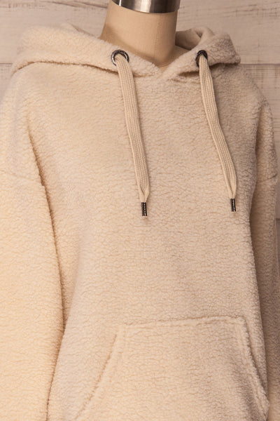 Labin Ivory Wooly Fleece Sweater with Hood | La Petite Garçonne 6