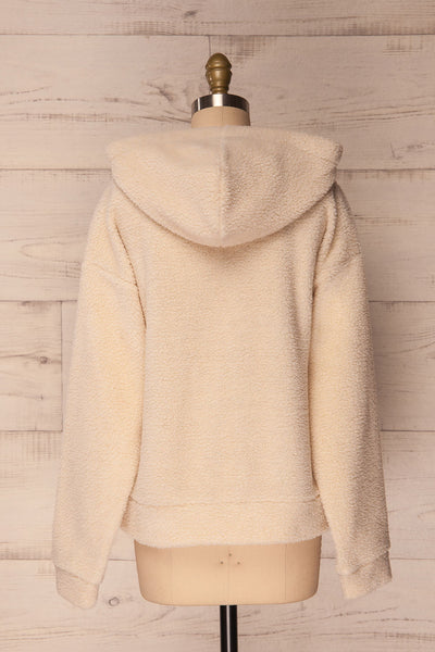 Labin Ivory Wooly Fleece Sweater with Hood | La Petite Garçonne 7
