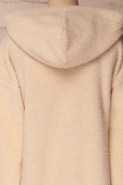 Labin Ivory Wooly Fleece Sweater with Hood | La Petite Garçonne 8