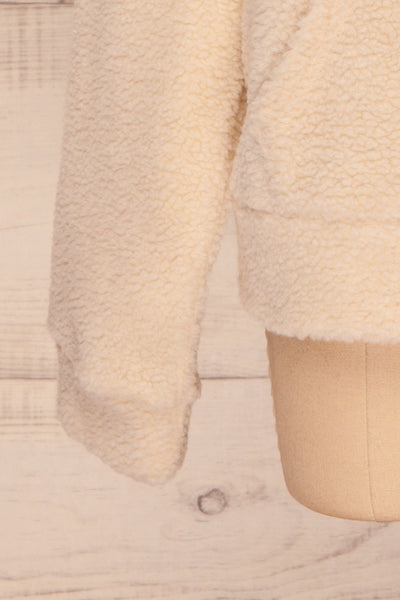 Labin Ivory Wooly Fleece Sweater with Hood | La Petite Garçonne 9