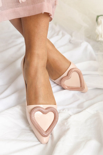 Lacaze Beige Slip-On Loafers with Heart | Boutique 1861 model