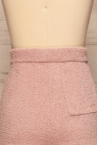 Ladek Pink Fuzzy Joggers w/ Drawstring | La petite garçonne  back close up