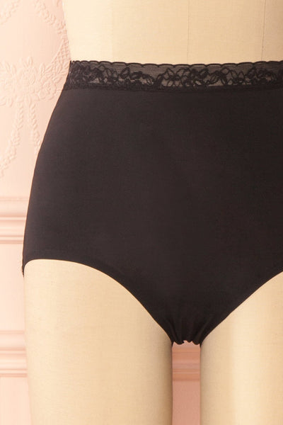 Laka Black High Waisted Cheeky Panty | Boutique 1861