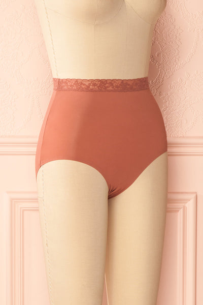 Laka Dusty Rose High Waisted Cheeky Panty | Boutique 1861