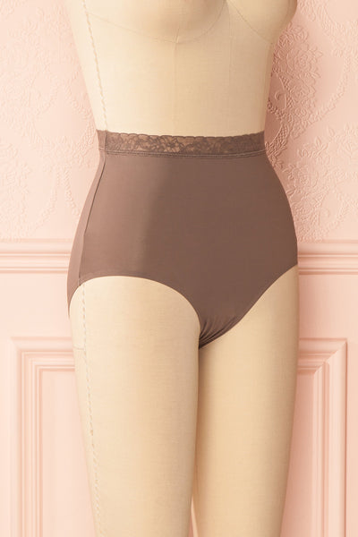 Laka Taupe High Waisted Cheeky Panty | Boutique 1861