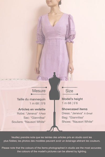 Jeneva Lilac Short Dress w/ Ruffles | Boutique 1861 template