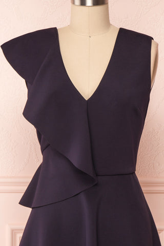 Lantaa Navy Blue Ted Baker A-Line Cocktail Dress | FRONT CLOSE UP | Boutique 1861