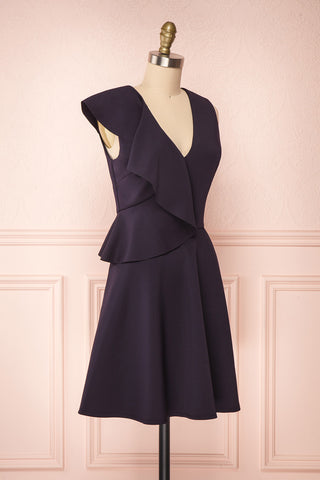 Lantaa Navy Blue Ted Baker A-Line Cocktail Dress  | SIDE VIEW | Boutique 1861
