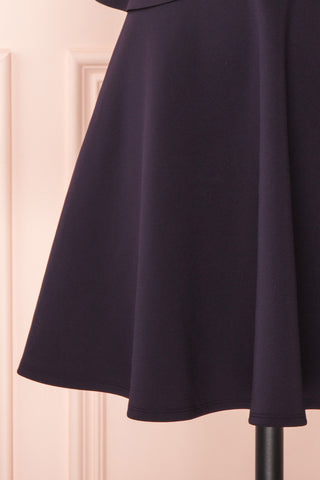 Lantaa Navy Blue Ted Baker A-Line Cocktail Dress | BOTTOM CLOSE UP | Boutique 1861