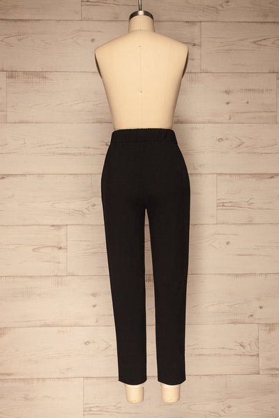 Lara Black Straight Leg Pants | La petite garçonne  back view