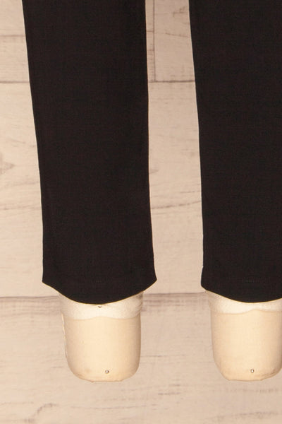 Lara Black Straight Leg Pants | La petite garçonne bottom
