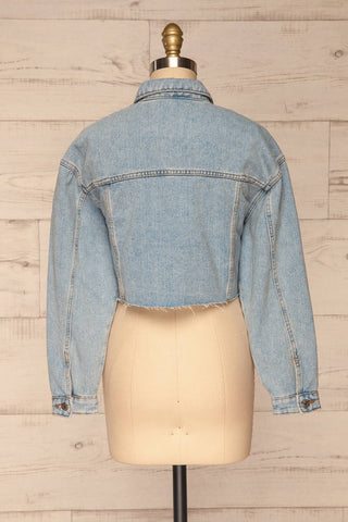 Lariano Crop Jean Jacket | Veston Denim | La Petite Garçonne back view
