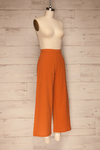 Laskowice Orange Wide Straight Leg Pants | La petite garçonne side view