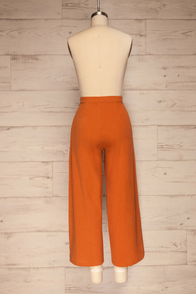 Laskowice Orange Wide Straight Leg Pants | La petite garçonne back view