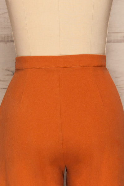 Laskowice Orange Wide Straight Leg Pants | La petite garçonne back close up