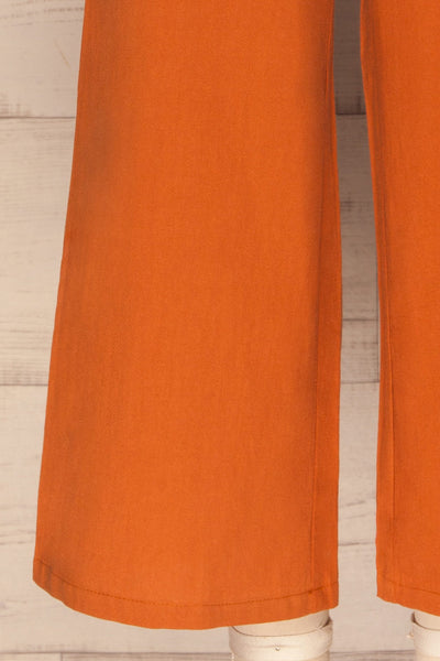 Laskowice Orange Wide Straight Leg Pants | La petite garçonne legs