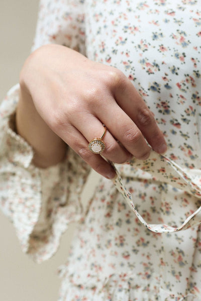 Latum Diamant Golden & White Statement Ring | Boutique 1861 2