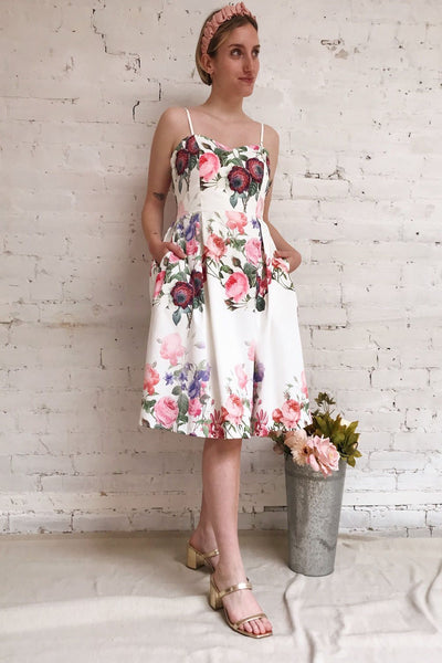Lauralie Cocktail Dress with Floral Print | Boutique 1861 model look