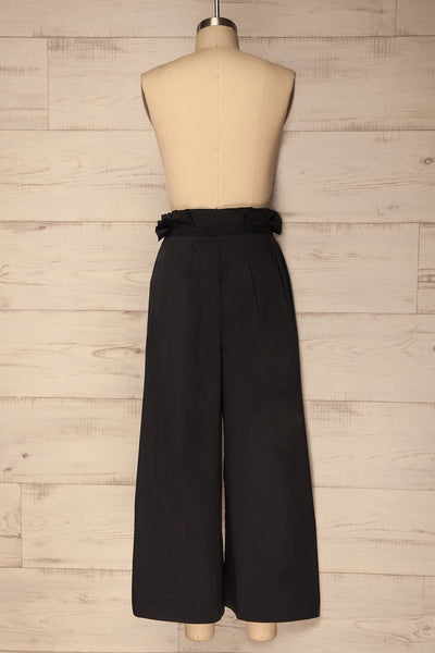 Lavrion Black Wide Leg Cropped Pants | La Petite Garçonne Chpt. 2