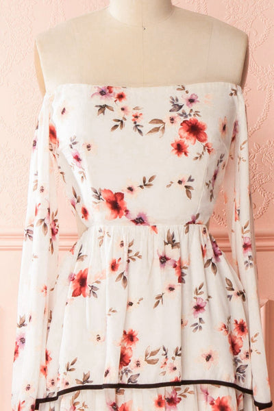 Lee-Anne Floral Layered Frills Off-Shoulder Dress | Boutique 1861