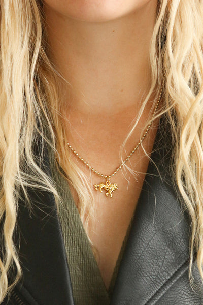 Leo | Golden Lion Necklace