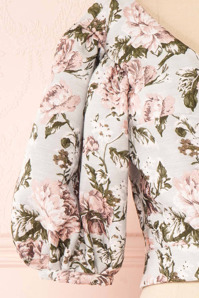 Leonore Floral Crop Top | Haut Écourté sleeve | Boutique 1861